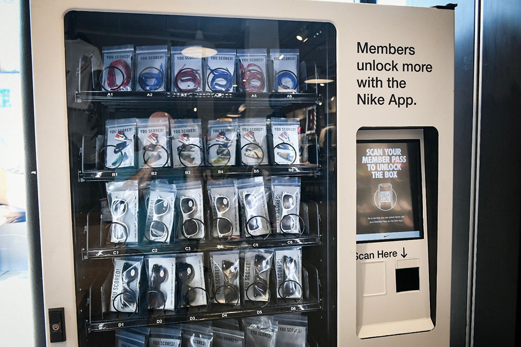 Nike vending machine Foot Locker