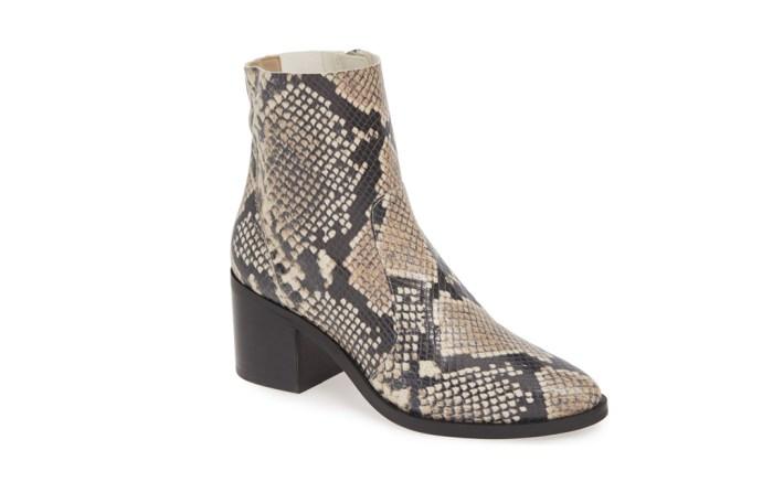 nordstrom-labor-day-sale-2019 shoe deals snakeskin ankle boot