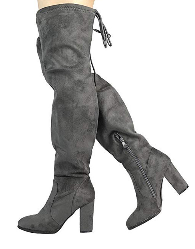 otk boots, suede, gray, boots