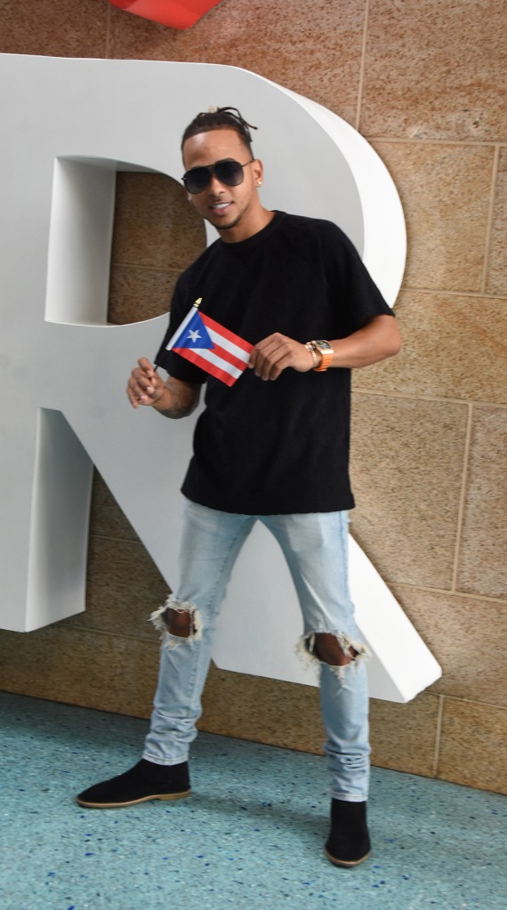 OZUNA (puerto rican urban singer) most watch artist in you tube in 2018, leaving press conference at the Puerto Rico's Convention Center in Miramar (San Juan, PR) after presenting a new song and video for the Puerto Rico Tourism Company. December, 11. 2018.Pictured: OzunaRef: SPL5049049 111218 NON-EXCLUSIVEPicture by: Photopress PR / SplashNews.comSplash News and PicturesLos Angeles: 310-821-2666New York: 212-619-2666London: 0207 644 7656Milan: +39 02 56567623photodesk@splashnews.comWorld Rights
