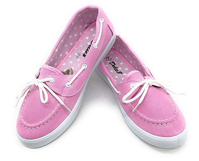 Blue Berry EASY21 Comfy Round Toe Shoe, girls, pink boat shoes