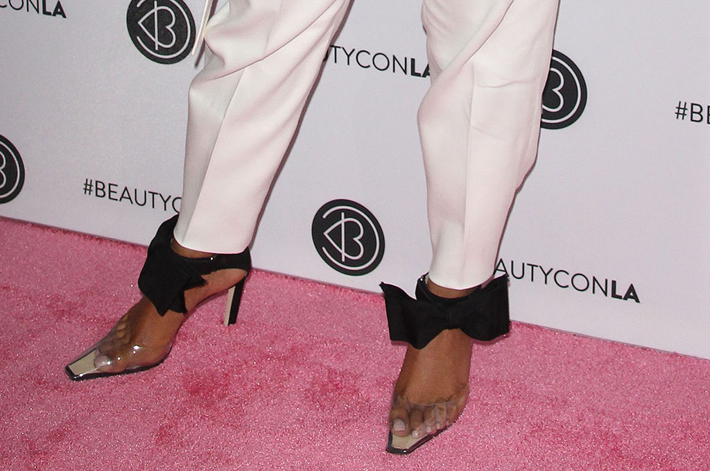 Priyanka Chopra, feet, jimmy choo x ashley williams, glinda pumps, pvc square toe heels, arrives at BeautyconPictured: Priyanka ChopraRef: SPL5108609 100819 NON-EXCLUSIVEPicture by: Jen Lowery / SplashNews.comSplash News and PicturesLos Angeles: 310-821-2666New York: 212-619-2666London: 0207 644 7656Milan: +39 02 56567623photodesk@splashnews.comWorld Rights