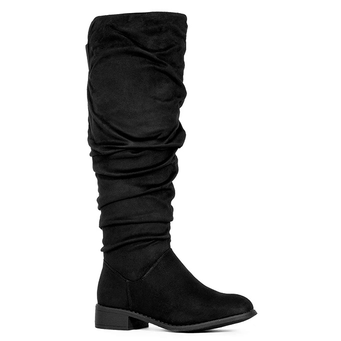 rf room of fashion knee high slouch boots, black