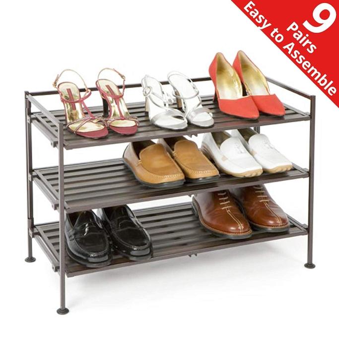 Seville Classics stackable shoe shelf, freestanding shoe racks