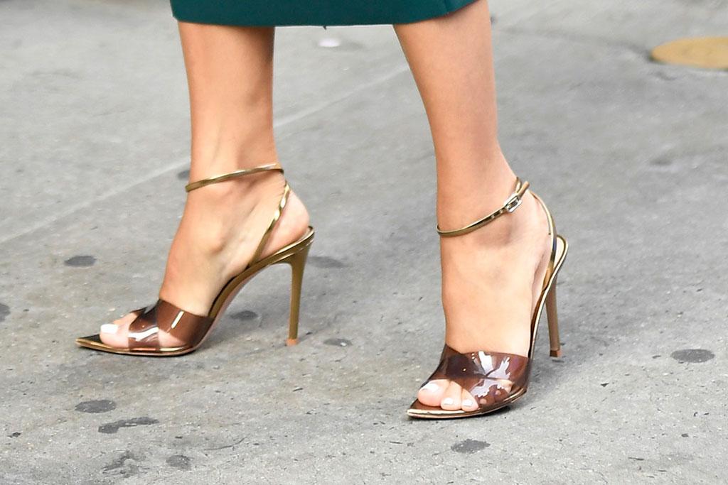 Eva Longoria, Dora and the Lost City of Gold, Good Morning America, Gianvito Rossi, PVC sandal