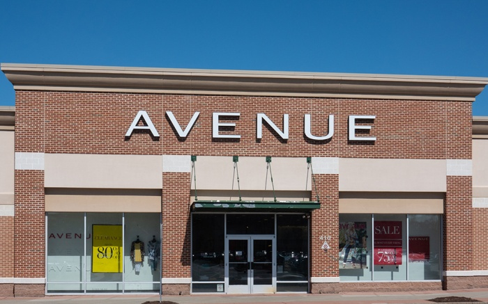 Trenton, NJ - April 1, 2019: This Avenue store is located at Hamilton Marketplace. Avenue is a clothing store specializing in womens plus sizes.; Shutterstock ID 1359512096; Usage (Print, Web, Both): Web; Issue Date: 8/13