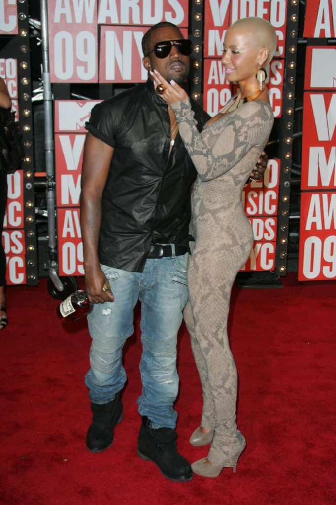 Kanye West and Amber Rose, henessy, 2009 MTV Video Music Awards Arrivals held at Radio City Music Hall in New York, America - 13 Sep 2009One man stole the show ay this year's MTV VMAs - for all the wrong reasons.Rapper Kanye West walked onto the stage during 19-year-old singer Taylor Swift's speech after she accepted her award for Best Female Video and grabbed the mic to tell her, the audience and millions of viewers around the world that the prize should have gone to Beyonce Knowles, prompting boos from the audience.West had earlier been seen on the red carpet accompanied by his model girlfriend Amber Rose and a half-empty bottle of Hennessy Cognac - and was later ejected by event organisers.Madonna and Janet Jackson opened the show with a tribute to the late King Of Pop, Michael Jackson.Other guests, winners and performers at the event included Katy Perry, Akon, Alexa Chung, Alicia Keys, Green Day, Amerie, Cassie, Buzz Aldrin, Chace Crawford, Gerard Butler, Jack Black, Jennifer Lopez, Joe Jackson, Nelly Furtado and Russell Brand.
