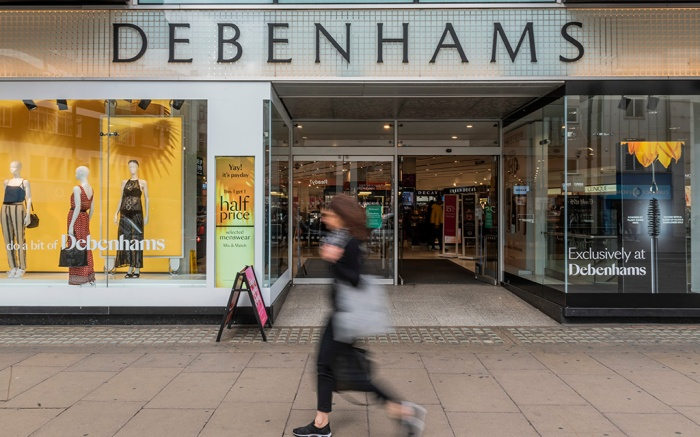 Consumers pass by Debenhams on Oxford StreetDebenhams store, Oxford Street, London, UK - 26 Apr 2019