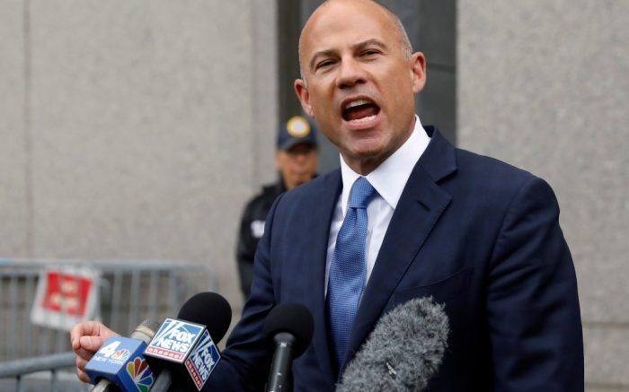Michael Avenatti makes a statement to the press as he leaves federal court, in New York,. Avenatti faces charges accusing him of cheating porn star Stormy Daniels out of $300,000 in a book dealMichael Avenatti Charges, New York, USA - 23 Jul 2019