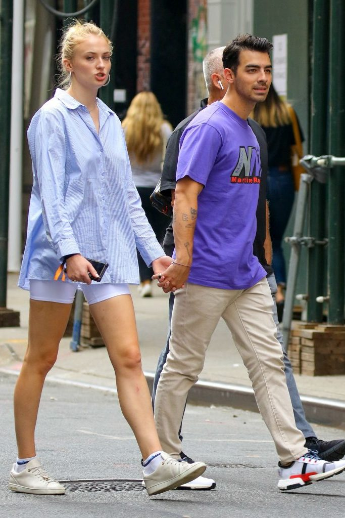 Sophie Turner and Joe JonasJoe Jonas and Sophie Turner out and about, New York, USA - 16 Aug 2019