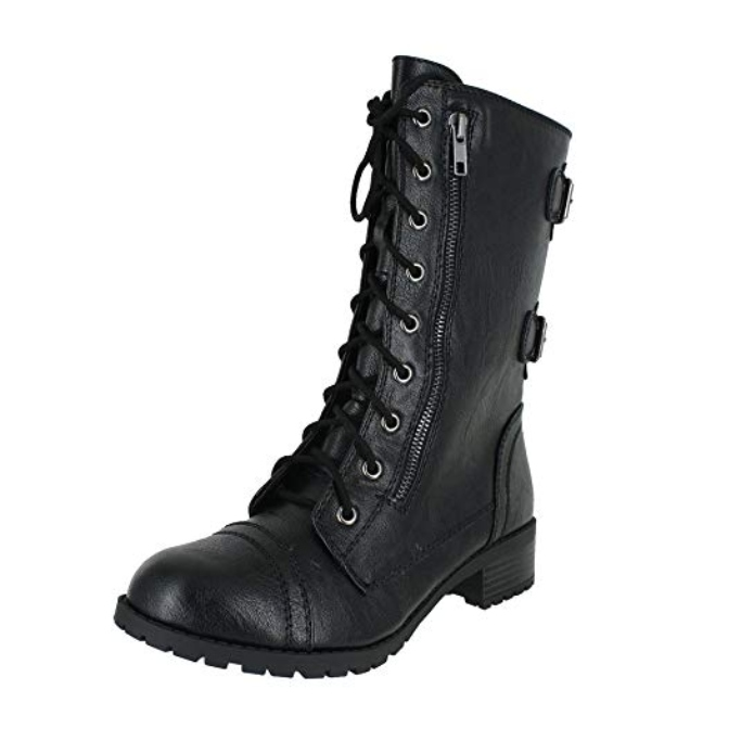 soda dome military combat boots