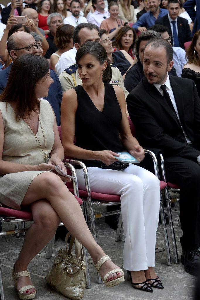 Queen Letizia of Spain at the opening ceremony of the Atlantida Film Festival.
