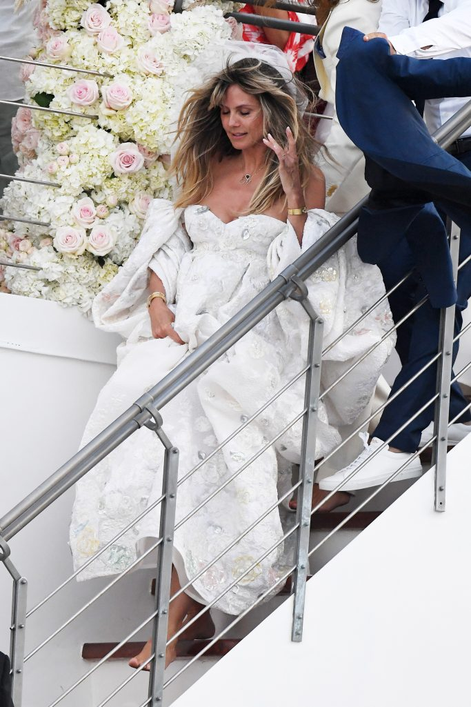 Heidi Klum and Tom Kaulitz are seen getting married on a yacht on august 03, 2109 in Capri, ItalyPictured: Heidi Klum and Tom KaulitzRef: SPL5107401 030819 NON-EXCLUSIVEPicture by: SplashNews.comSplash News and PicturesLos Angeles: 310-821-2666New York: 212-619-2666London: 0207 644 7656Milan: +39 02 56567623photodesk@splashnews.comWorld Rights, No France Rights, No Italy Rights, No Switzerland Rights