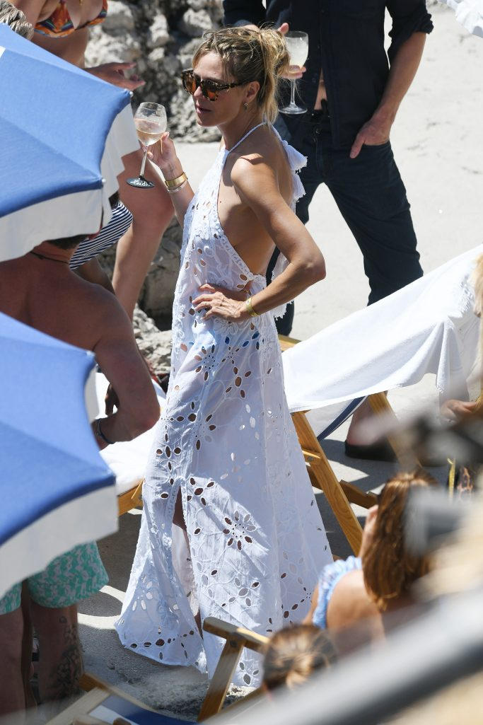 Heidi Klum and Tom Kaulitz are seen at their after wedding party at La Fontelina restaurant on August 04, 2019 in Capri, Italy.Pictured: Heidi KlumRef: SPL5107451 040819 NON-EXCLUSIVEPicture by: SplashNews.comSplash News and PicturesLos Angeles: 310-821-2666New York: 212-619-2666London: 0207 644 7656Milan: +39 02 56567623photodesk@splashnews.comWorld Rights, No France Rights, No Italy Rights, No Switzerland Rights