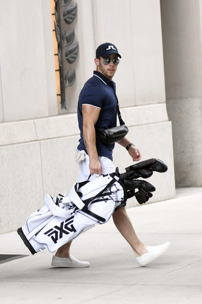 Nick Jonas heading out to pay Golf this morning in new York City ahead of his Boston ConcertPictured: Nick Jonas Ref: SPL5109717 170819 NON-EXCLUSIVE Picture by: Elder Ordonez / SplashNews.com Splash News and Pictures Los Angeles: 310-821-2666 New York: 212-619-2666 London: 0207 644 7656 Milan: +39 02 56567623 photodesk@splashnews.com World Rights, No Portugal Rights