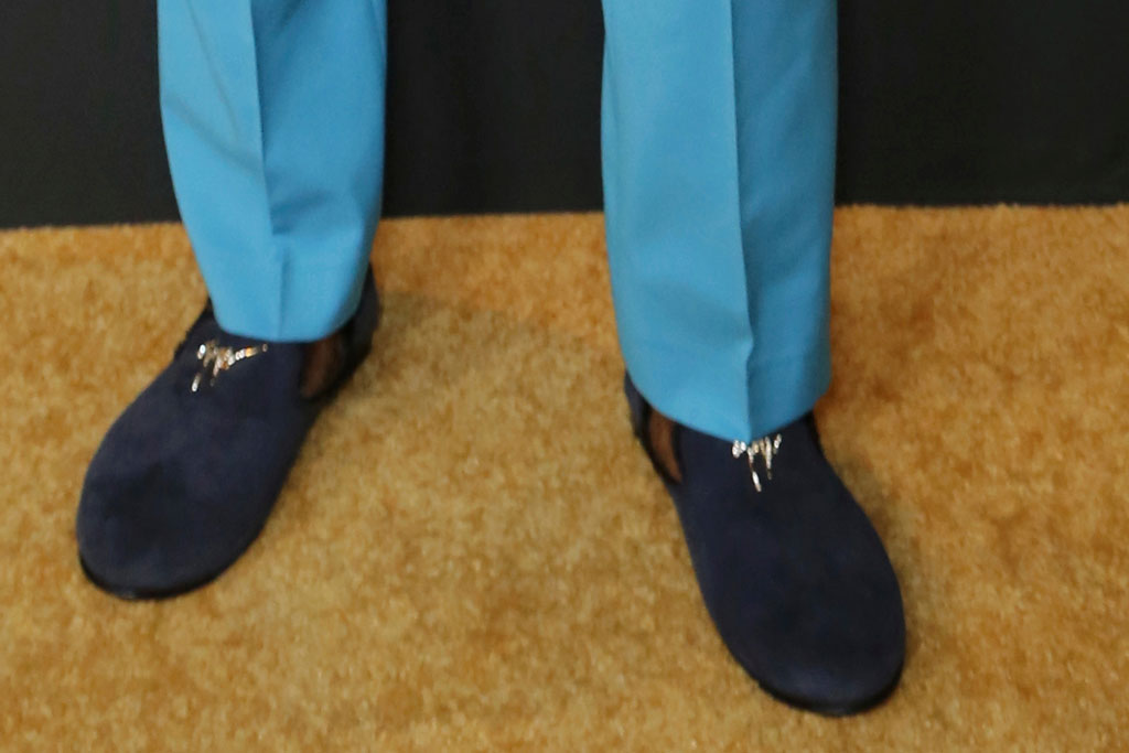 Sterling K. Brown, shoe style, embellished slippers, nbc emmy nominee party