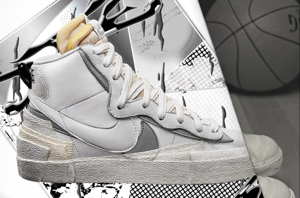 Sacai x Nike Blazer High White