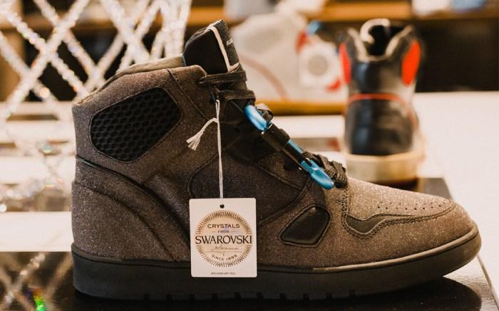 Ales Grey Battalion Hi Swarovski Sneakers