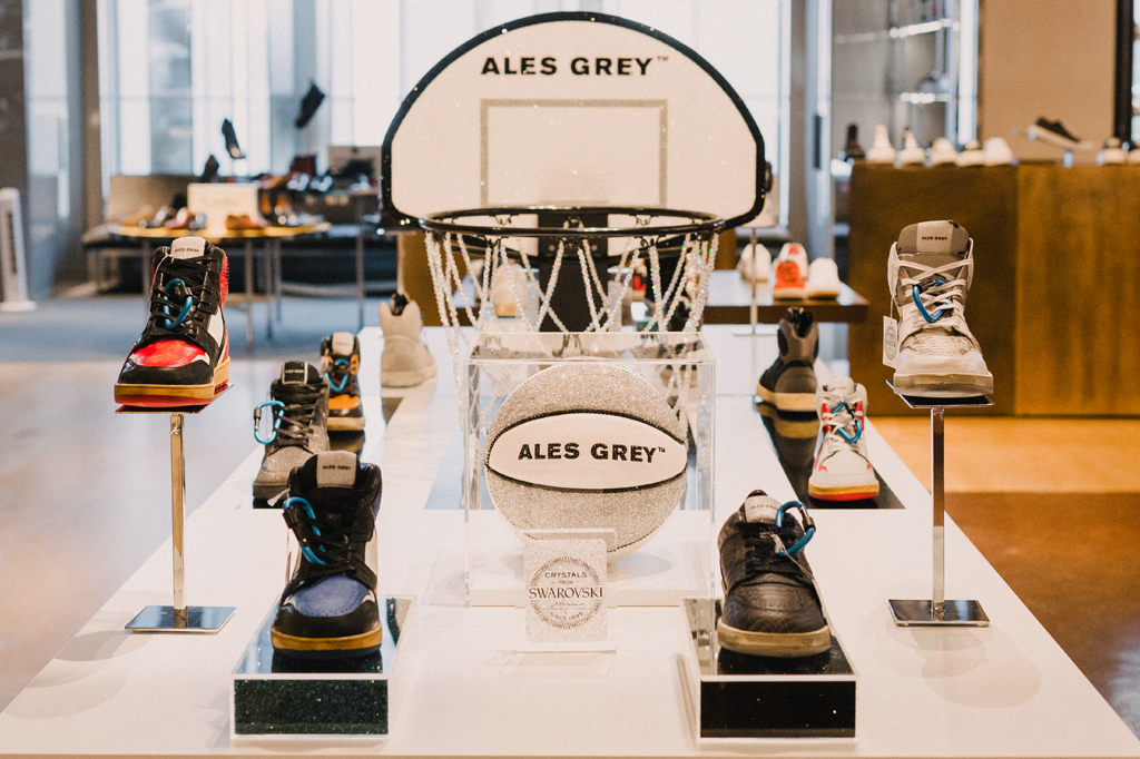 Ales Grey Swarovski Selfridges Popup Shop