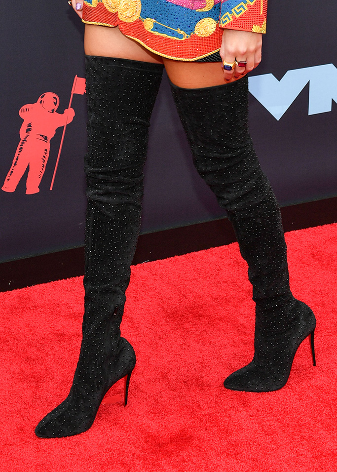 Taylor Swift, christian louboutin boots, MTV Video Music Awards, Arrivals, Prudential Center, New Jersey, USA - 26 Aug 2019