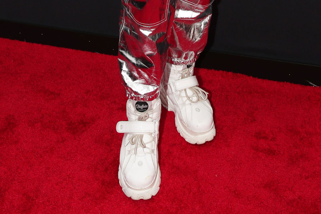 Todrick Hall, silver space suit, white work boots, celeb style, pink hair, MTV Video Music Awards, Arrivals, Prudential Center, New Jersey, USA - 26 Aug 2019, buffalo london
