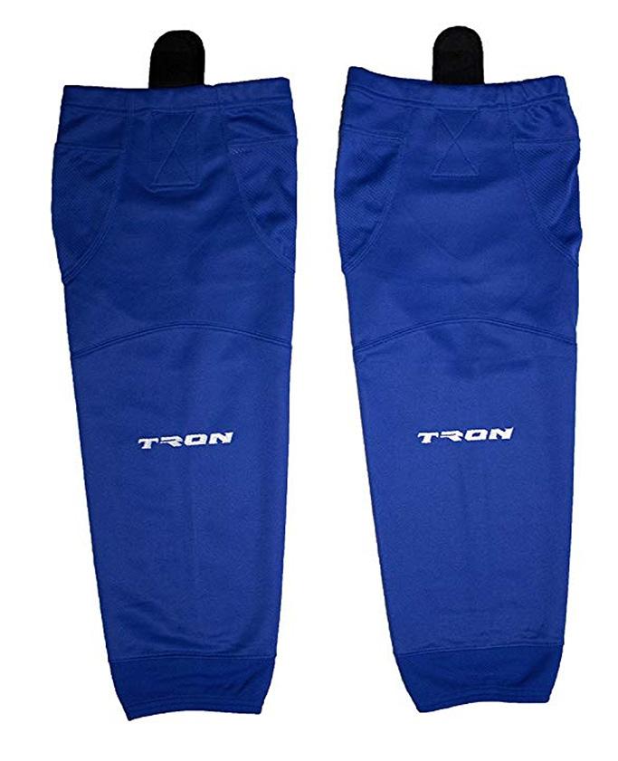 TronX SK100 Dry Fit Ice Hockey Socks, blue, velcro, mesh
