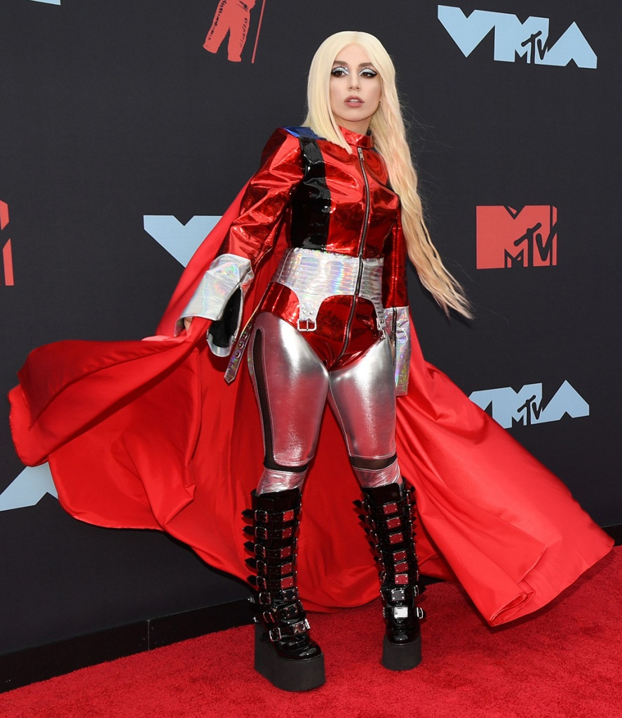 Ava Max, platform boots, cape, costume, MTV Video Music Awards, Arrivals, Prudential Center, New Jersey, USA - 26 Aug 2019