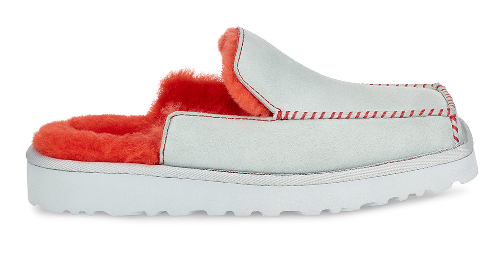 shearling, Ugg Eckhaus Latta collaboration collection, slip-ons, furry, fall 2019