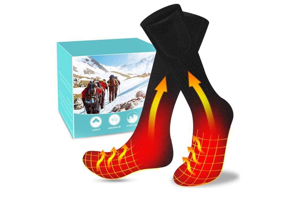 heated socks, socks, amazon
