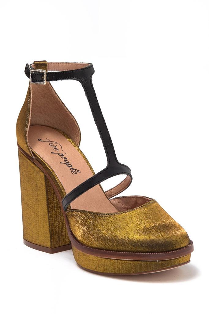 Free People Wythe Platform Satin Pump, 1920s shoes, t-strap sandals