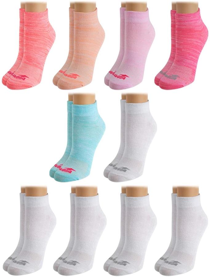casual socks for women, Avia Quarter Cut Ankle Socks
