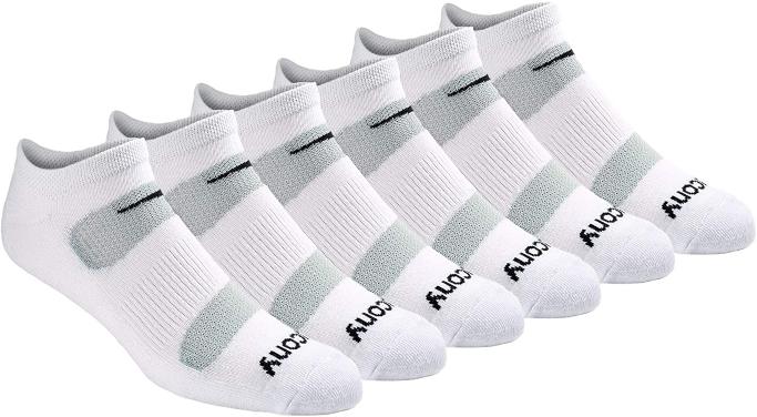 Saucony Comfort Fit Performance No-Show Socks, men's big and tall casual socks