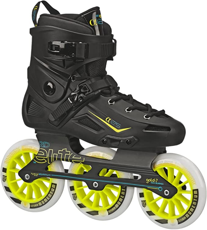 Alpha 125mm 3-Wheel Men's Inline Skates, men's inline skates