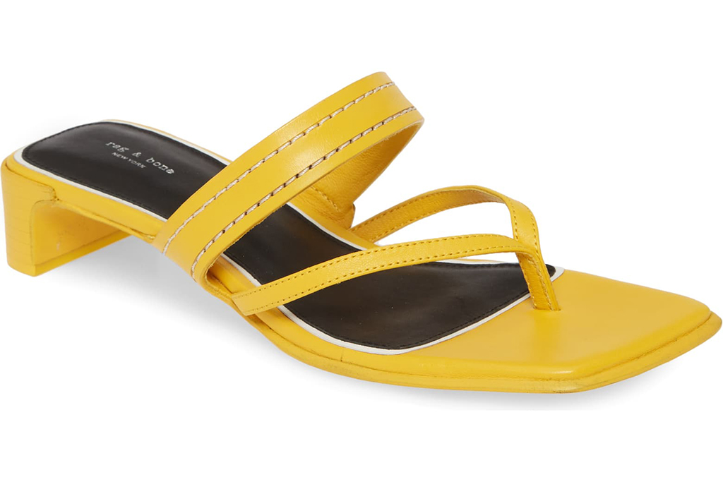 rag and bone sandal, square toe, 90s trends