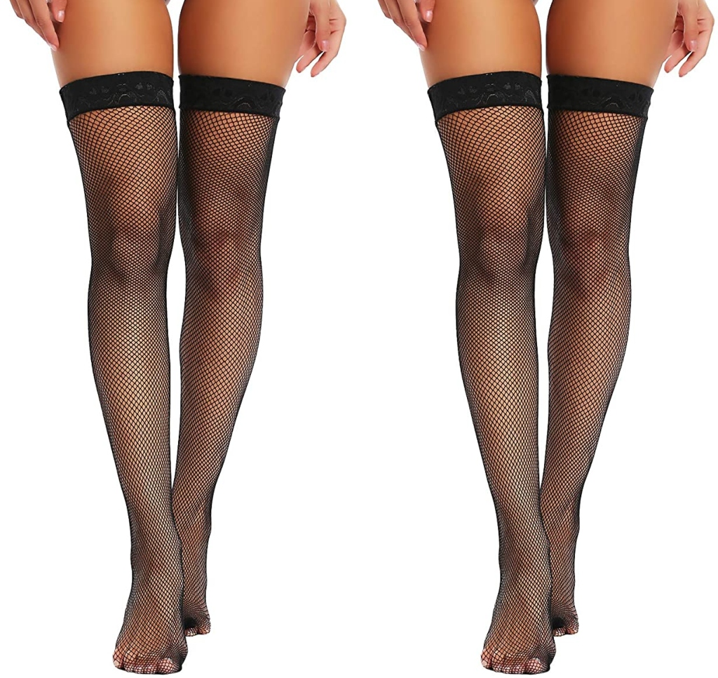 Joyaria Fishnet Thigh-High Stockings