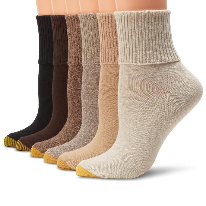 women's casual socks, Gold Toe Classic Turn Cuff Socks