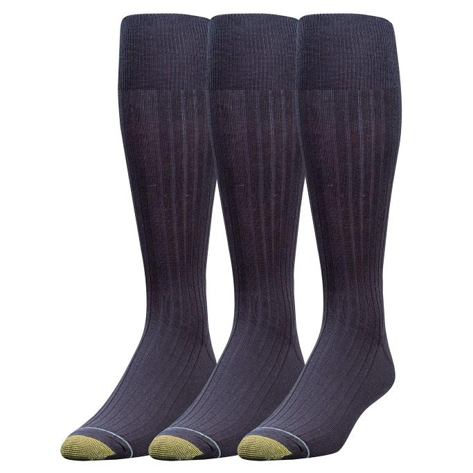 men's big and tall dress socks, Gold Toe Canterbury Over-the-Calf Dress Sock