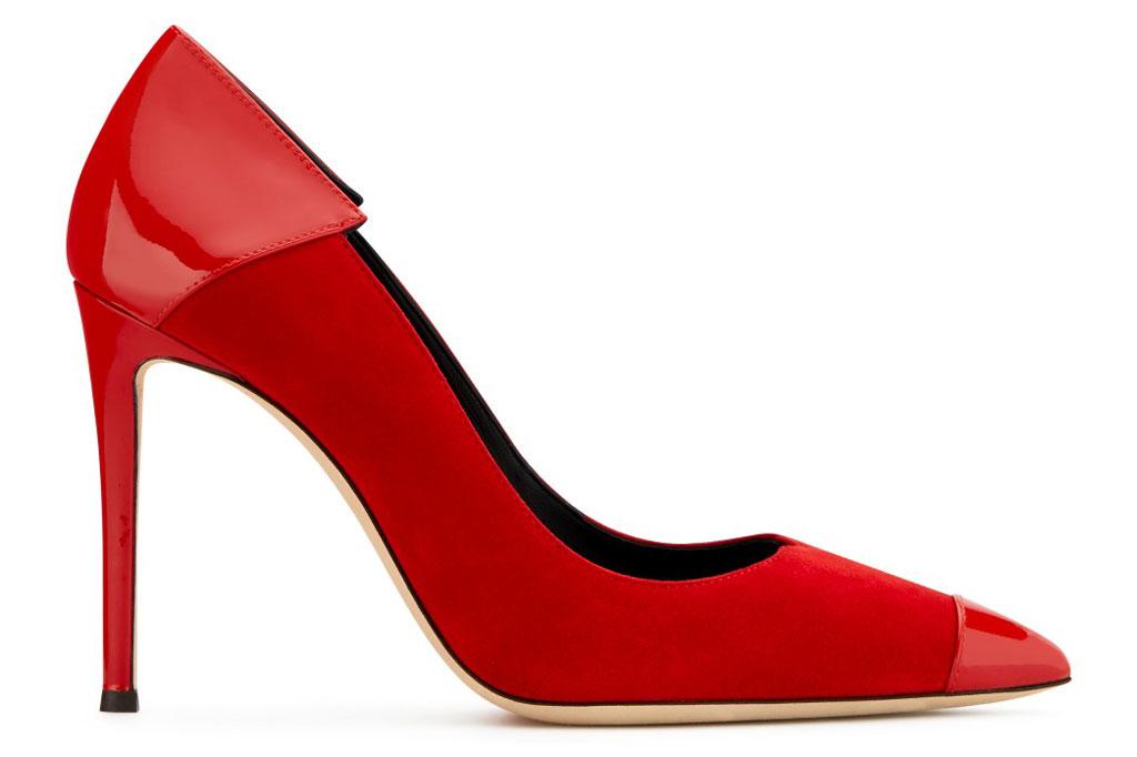 Giuseppe Zanotti, red pumps, adela, shoe style,