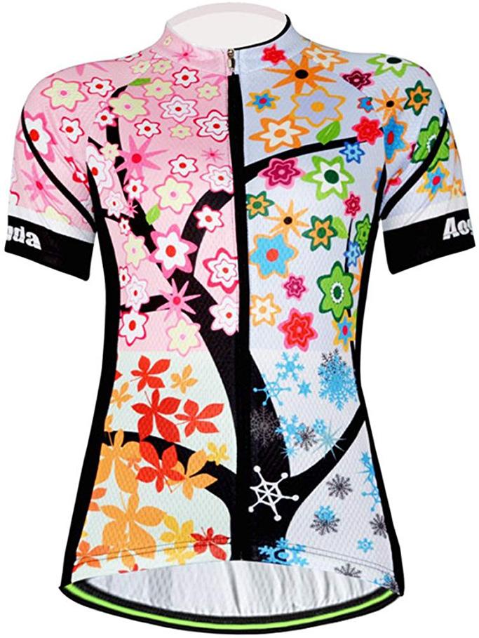 Cycling Jersey Women Aogda Bike Shirt