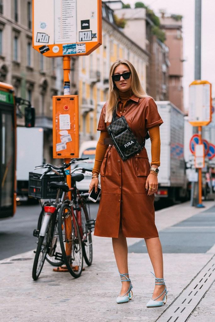 Alex Seifert, Jacquemus, blue pumps, street style, Milan fashion week