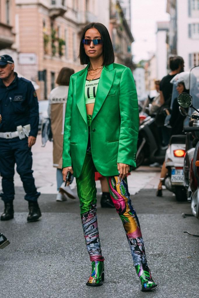 Alexandra Guerain , Maison Margiela, milan fashion week, street style, patterned boots