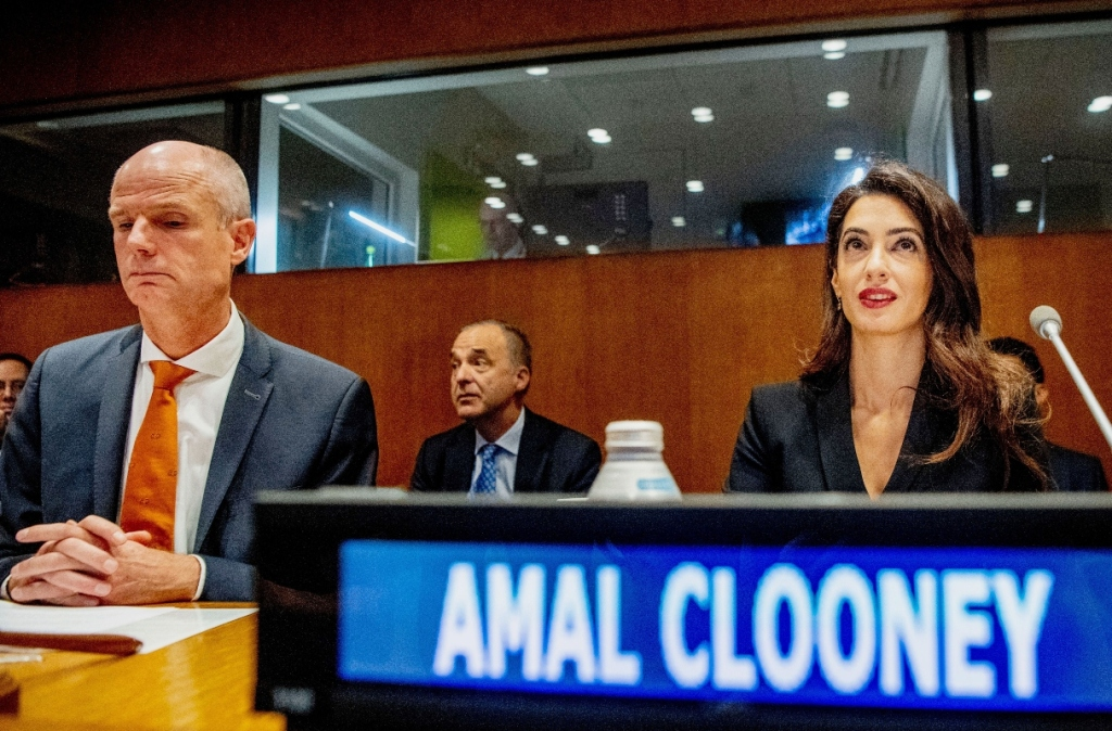 amal clooney, un, united nations, general assembly, meeting
