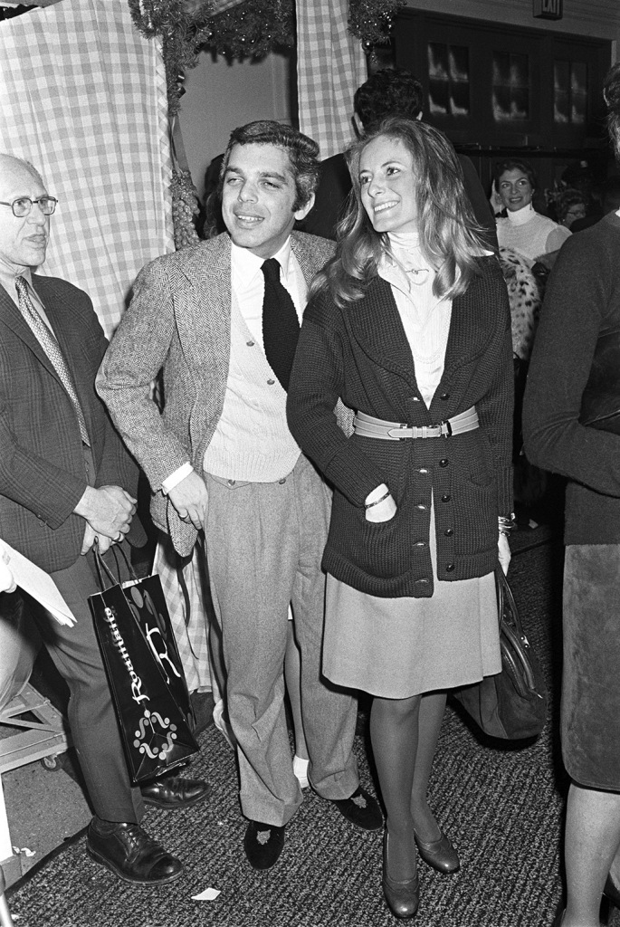 Ralph and Ricky Lauren attend the annual scholarship fund-raising event at New York's Dalton School on December 4, 1972 in New York...Article title: 'Eye ViewDalton School Auction, New York