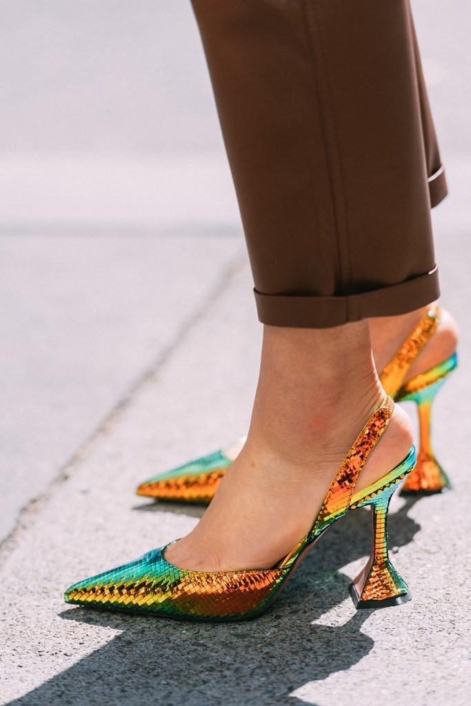 Amina Muaddi, spring 20, nyfw, street style, pumps, statement heels
