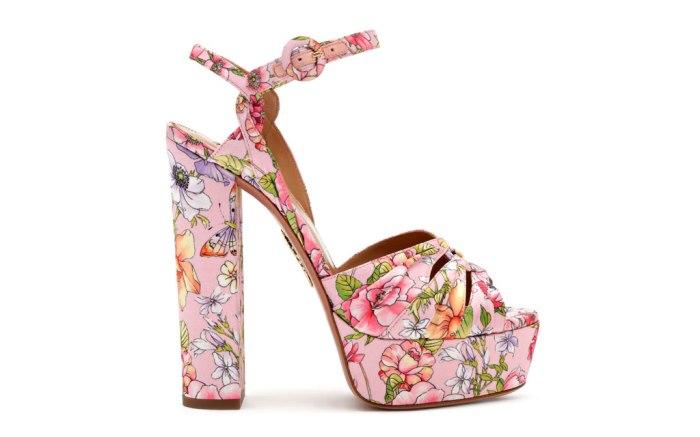 Aquazzura, spring 2020, platform sandals, pink