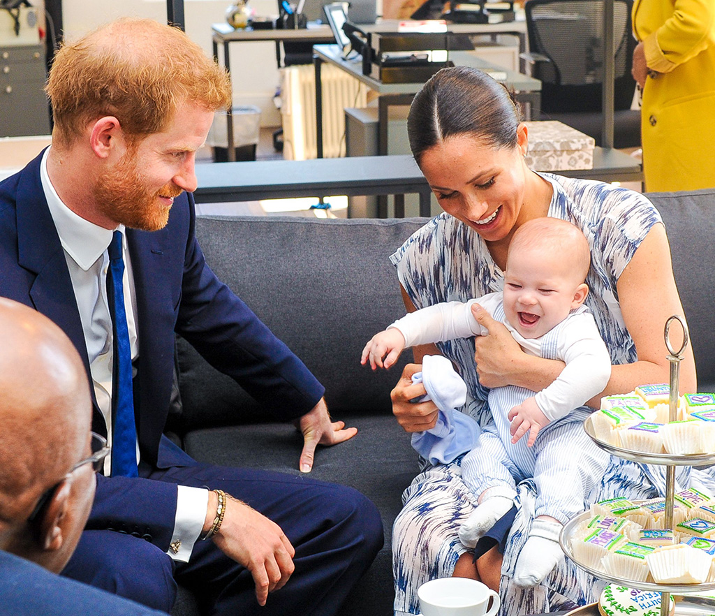 Prince Harry and Meghan Duchess of Sussex, holding their son Archie Harrison Mountbatten-Windsor, at the Desmond & Leah Tutu Legacy Foundation in Cape Town, South AfricaPrince Harry and Meghan Duchess of Sussex visit to Africa - 25 Sep 2019