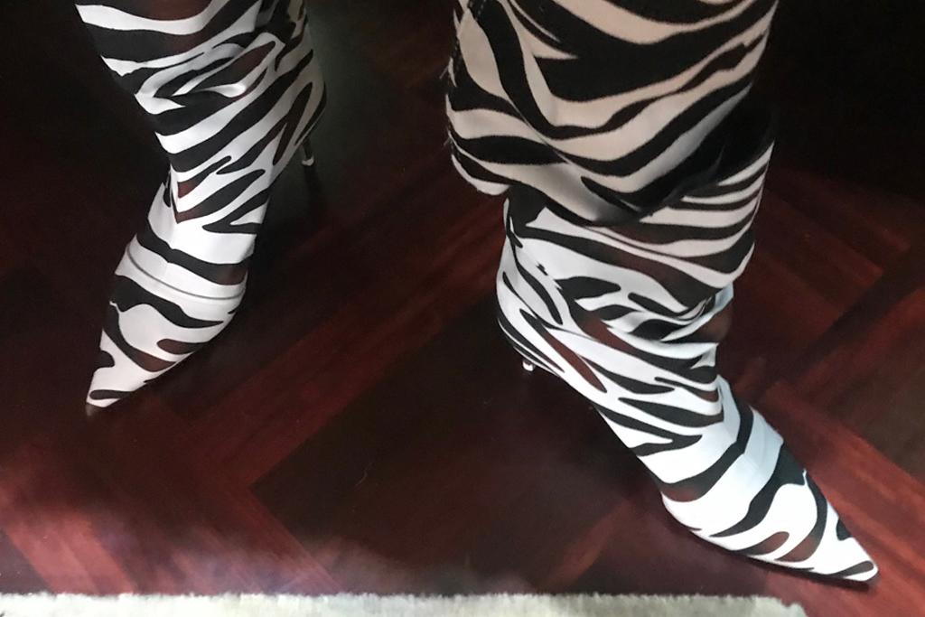 attico, spring 2020, ss20, milan fashion week, mfw, footwear, zebra