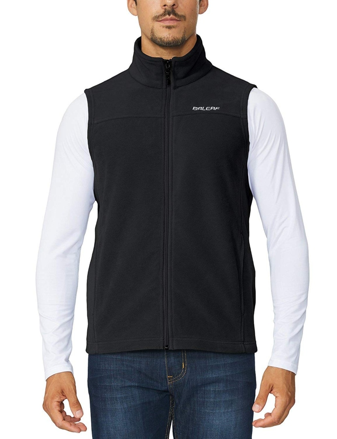 Baleaf Men's Full Zip Fleece Vest