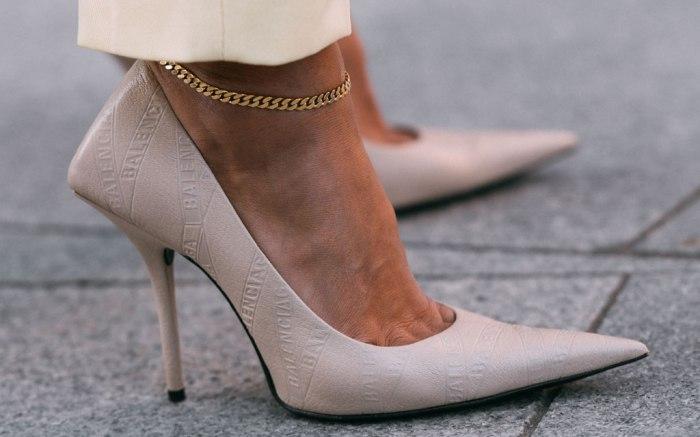balenciaga, pumps, pointed toe, lfw, London fashion week, street style, shoes, spring 2020
