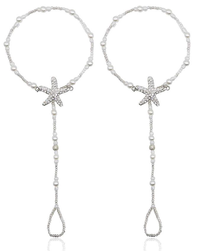 Bienvenu Pearl Ankle Chain Bracelet